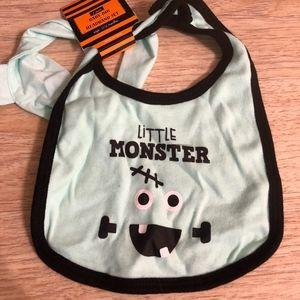 FREE - NWT Halloween Baby Bib and Headband Set